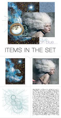 """blue on blue..."" by artsdesireable ❤ liked on Polyvore featuring art and ThisArtToBeYours"