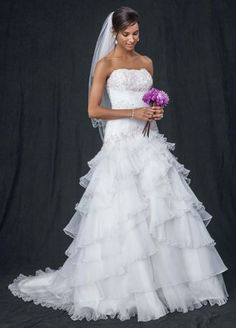 Ball gown wedding gown wedding and swag on pinterest for Wedding dress with swag sleeves