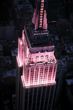 Showing Support With LED Light For Breast Cancer Awareness Month