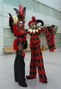 Steen Venetian Stilt Walkers- Venetian Masked Entertainment