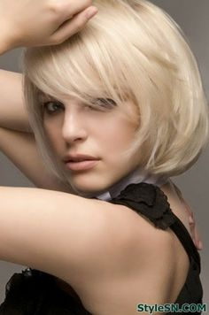 Short Wavy Curly Bob Hairstyle for 2014 -StyleSN