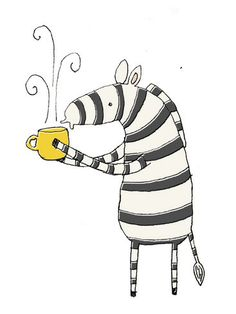 Zebra & Coffee - right up my alley!