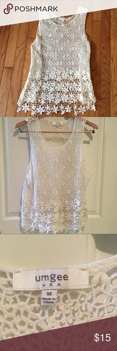 Ivory lace top Ivory lace top. 60% cotton. So adorable with jeans. Tops