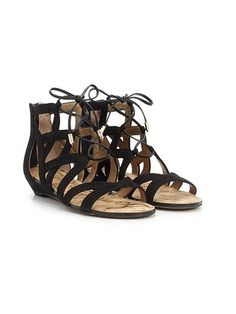 3ab59b0b55e (Low wedge heel - lace up gladiator. the ones i have are black pic of  person to show how cute they are on  ).