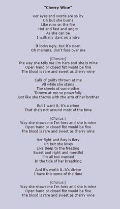 Cherry Wine  #Hozier #lyrics