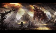 Image result for undead environment concept art