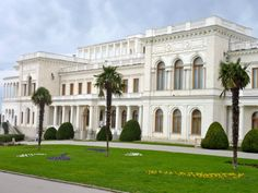 The Livadia Palace.  The second floor was used principally by the Tsarina and her four daughters. General Marshall is occupying the Imperial bedroom and Admiral King the Tsarina?s boudoir. The private outside staircase is said to have been used by Rasputin. The large rooms on the left wing were used by the Tsarevnas (daughters) as classrooms. The second floor conference room was a private reception room of the Tsarina.