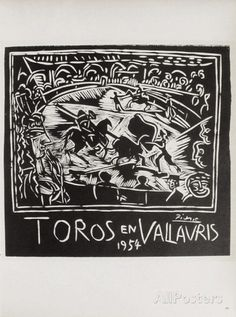 AF 1954 - Toros en Vallauris Collectable Print by Pablo Picasso at AllPosters.com
