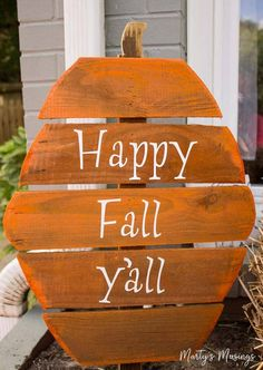 Made from leftover wood, these DIY rustic fence board pumpkins are fun, inexpensive and easy to complete with spray paint and vinyl letters.