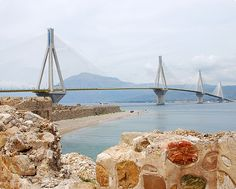 Patras Greece - over the bridge June 2013 Places To Travel, Places To Visit, Over The Bridge, Minoan, Countries To Visit, Planet Earth, San Francisco Skyline, Places Ive Been, Rio
