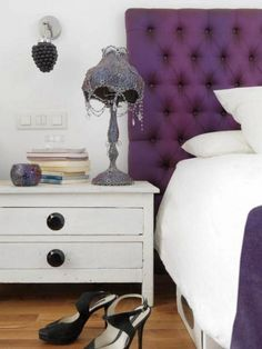 white dresser with large black pulls--casual  modern look