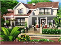 Lot: Found in TSR Category 'Sims 4 Residential Lots' Sims 4 House Plans, Sims 4 House Building, Sims 4 Family House, Sims 4 House Design, The Sims 4 Lots, Casas The Sims 4, Suburban House, The Sims 4 Download, Sims 4 Build