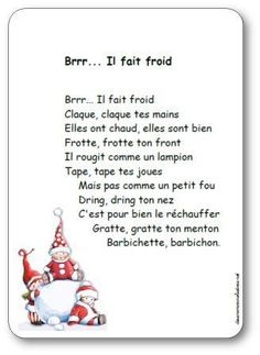 French Nursery Rhyme for winter Teaching Vocabulary Strategies, Kindergarten Vocabulary, Kindergarten Books, Core French, French Class, How To Speak French, Learn French, Sight Words, French Poems