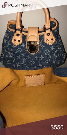 09e3a15f9853 LOUIS VUITTON BLUE MONOGRAM DENIM PLEATY MINI Barely worn - in great  condition Louis Vuitton Bags