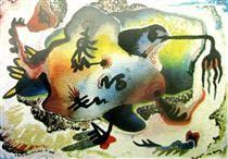 Untitled - Jock Macdonald Canadian Art, Art Database, Artist At Work, Surrealism, Moose Art, Abstract, Artwork, Animals, Summary