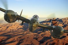 """P-38- Head on view... or worse, perhaps a """"behind your tail"""" view....."""