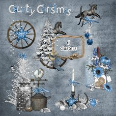 Country Christmas Cluster Set 1 - Digital Scrapbooking