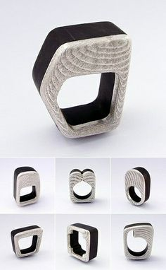 Gustavo Paradiso - Colección 2012 - chiaroscuro XII ring - wood & silver