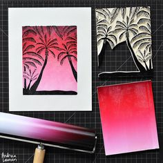 Dreaming of warm sunny places and finally able to take a nice photo this morning! Been busy with my other design work and glad to be able to fit in some printmaking early today! Enjoy your day!