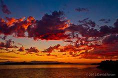 Beautiful shot of tonight's sunset from our Facebook friend David Rosen!