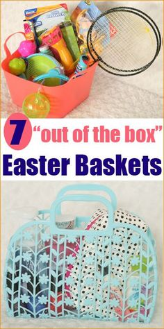 7 Creative Easter Baskets.  Affordable gift baskets fro any occasion.  All items only $1-$3.