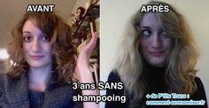 Voici ce j'ai appris de 3 ans sans shampooing, seriez-vous prêts à vous aussi stopper l'utilisation de shampooings ?  Découvrez l'astuce ici : http://www.comment-economiser.fr/ne-pas-utiliser-de-shampoing.html?utm_content=bufferfa587&utm_medium=social&utm_source=pinterest.com&utm_campaign=buffer