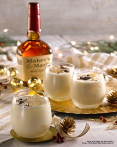 Egg-free and on ice, this nontraditional Eggnog is a quick and easy way to get your seasonal sipping started. #MakeItMerry