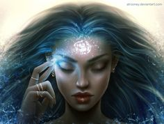 Stored Thoughts [Commission] by Alrooney on DeviantArt Fantasy Inspiration, Character Inspiration, Character Art, Story Inspiration, Digital Art Girl, Witch Art, Magic Art, Fantasy Girl, Fantasy Story