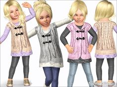 The Sims Resource - TSR Toddler coat with jeans by sims2fanbg - Sims 3 Downloads CC Caboodle