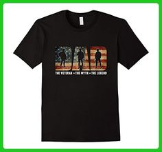5356d0adbbf Mens Dad The Veteran T-shirt Best Gift For Father s Day Small Black -  Holiday