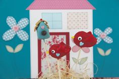 Sweet Tweet Bird Pops and Birdhouse Pops from Sweets on a Stick