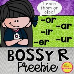 """Bossy R Phonics No Prep Printables BUNDLE Review the Bossy R's with your students with this Bossy R FREEBIE (Also known as """"R Controlled Vowels""""). There are 5 review sheets in this freebie, one for each Bossy R sound combination: 'ar', 'or', 'er', 'ir' and 'ur'. Click HERE to view the entire BOSSY R"""