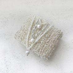 Ivory Bridal Bracelet Wire Crochet Jewelry Wedding by AlbinaRose