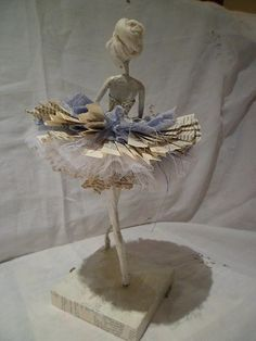 A ballerina sculpture. Wire frame. Beautiful pose.