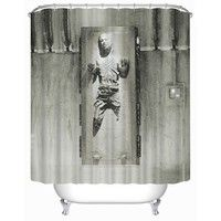Han Solo in Carbonite Shower Curtain Waterproof Mildew Polyester Shower Curtain with 12 Hooks