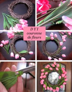 70 Ideas Spring Door Decorations Diy Holidays For 2019 Diy Spring Wreath, Spring Door Wreaths, Easter Wreaths, Spring Crafts, Wreath Crafts, Diy Wreath, Wreath Ideas, Diy Flowers, Spring Flowers