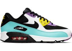 Buy and sell authentic Nike Air Max 90 Black Bright Violet White shoes and thousands of other Nike sneakers with price data and release dates. Retro Jordans 11, Nike Air Jordans, Nike Basketball Shoes, Nike Shoes, I Love My Shoes, Me Too Shoes, Nike Air Max Black, Air Max Sneakers, Tennis
