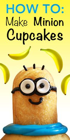 How To: Make Minion Cupcakes soo cute id love to try
