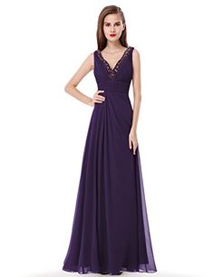 Ever Pretty Juniors Sexy Floor Length Purple Prom Dress 14 US *** More info could be found at the image url.