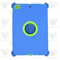 Blue GN Defender Heavy Duty Hybrid Case For Apple iPad Mini 2/3 w/Logo Display