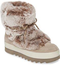Cougar Vivian Limited Edition Genuine Rabbit Fur Boot (Women)   Nordstrom Pink Snow, Snow Bunnies, Bunny, Fur Boots, Rabbit Fur, Nordstrom Gifts, Snow Boots Women, Platform Pumps, Summer