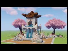 Minecraft Mods, Minecraft Building Blueprints, Cute Minecraft Houses, Minecraft Plans, Minecraft House Designs, Amazing Minecraft, Minecraft Crafts, Minecraft How To Build, Minecraft Fountain