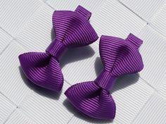 2pcs/lot boutique barrettes for children baby girls mini ribbon hair clip bows