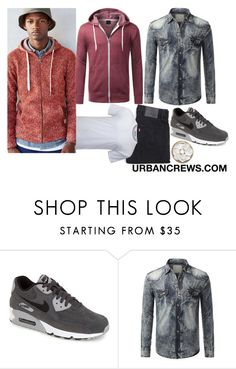 """""""URBANCREWS Mens Basic Long Sleeve Zip-Up Hoodie Jacket"""" by urbancleo ❤ liked on Polyvore featuring NIKE, Levi's, women's clothing, women's fashion, women, female, woman, misses and juniors"""