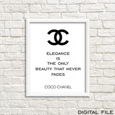 Style your lovely home with this Chanel wall art poster. This is for sure timeless and chic teen girl wall art and it is also elegant and stylish