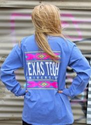 Texas Tech Tribal Long Sleeve Comfort Colors T-shirt. Buy the original here!