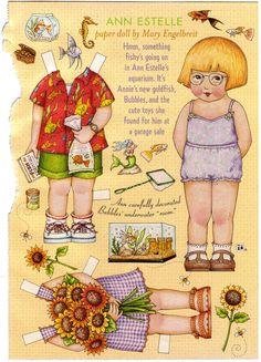 Mary Engelbreit Paper Doll   Ann Estelle by kimssewingbox on Etsy, $4.95