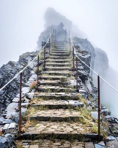 Stairway to heaven  by WorldWideAperture  mist mountains clouds stairs mountain mystic madeira stairway epic WorldWideAperture