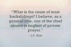 Prayer neglect ... Sin select.