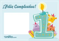Invitaciones para fiestas de cumpleaños - Postales - Guia del Niño Invitation Card Birthday, Invitation Cards, Invitations, Happy Birthday Wishes Cards, Bird Party, Ideas Para Fiestas, Happy Day, Birthdays, Baby Shower